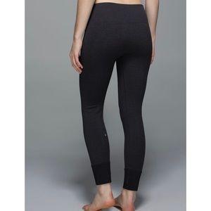 LULULEMON ebb to street leggings heathered black